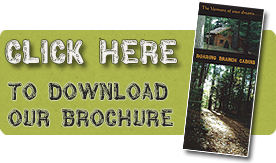 download our brochure for roaring branch cabins - where the Vermont of your dreams awaits you